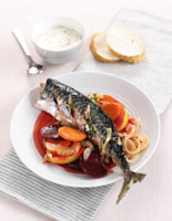 Baked Mackerel with Beetroot