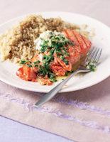 Salmon Fillets with Sage & Quinoa