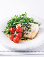 Cod Fillet with Tomatoes & Rocket