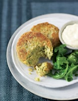 Herby Chickpea Crab Cakes
