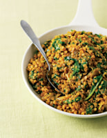 Curried Dhal with Spinach