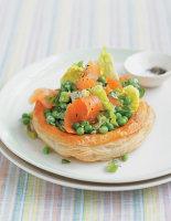 Smoked Salmon & Mint Pea Tarts