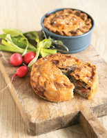 Mini Raised Chicken & Chorizo Pies