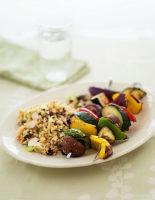 Veggie Kebabs with Bulgar Wheat