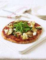Artichoke & Asparagus Pizzas