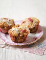 Rhubarb & Marzipan Muffins