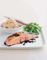 Orange-Soy Salmon with Noodles