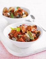 Tomato Stew with Clams & Chorizo