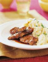 Calves' Liver with Garlic Mash