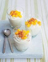 Coconut Creams with Mango