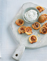 Marmite Pinwheels with Soft Cheese Dip