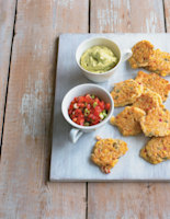 Sweetcorn Fritters with Tomato Salsa