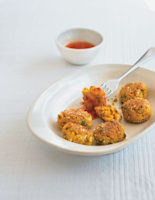 Spiced Rice and Chickpea Balls with Sweet Chilli Sauce