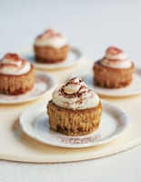 Mini Baked Cappuccino Cheesecakes