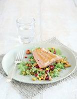 Pan-Fried Salmon with Mixed Bean Salad