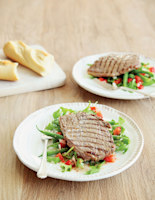 Fast-Seared Steak with French Beans