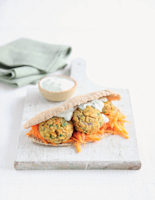 Falafel Patties with Wholemeal Pitta