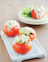 Quinoa-Stuffed Beef Tomatoes with Melting Mozzarella