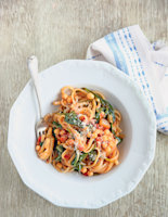 Linguine with Chickpea and Tomato Sauce
