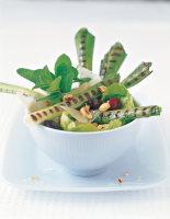 Charred Leek Salad with Hazelnuts
