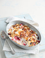 Raspberry Yogurt Gratin