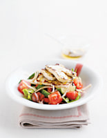 Greek Country Salad with Haloumi