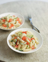 Salmon Pasta Salad with Dill Dressing