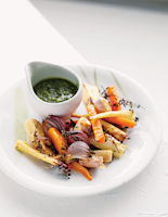Roast Vegetables & Parsley Pesto
