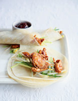 Hoisin Chicken and Bean Sprout Wraps