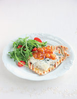Chicken Topped with Blue Cheese and Mango Chutney