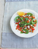 Roasted Chickpeas with Spinach