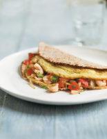 Indian Prawn Omelette Wraps