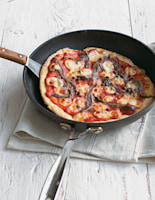Frying-Pan Pizza with Anchovies