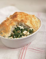Spinach, Pine Nut and Cheese Filo Pie