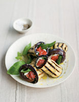 Stuffed Aubergine and Yogurt Rolls