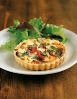 Red Pepper and Goats' Cheese Quiches