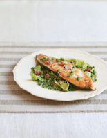Halibut with Peas and Lettuce
