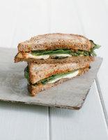 Fried Eggy Bread Sandwich with Mozzarella