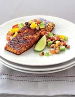 Blackened Salmon with Salsa