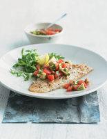 Parmesan-Crusted Haddock with Tomato Avocado Salsa