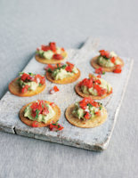 Crispy Tostados with Avocado and Tomatoes