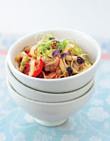 Pork with Red Pepper & Noodles