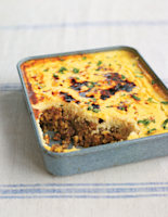 African Curried Beef and Mango Chutney Bake