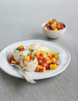 Lemon Sole with Spicy Salsa