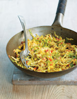 Malaysian Red Pepper and Cabbage Stir-Fry