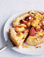 Free-form Nectarine and Almond Pie