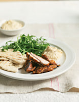 Citrus-Griddled Chicken with Hummus and Pitta
