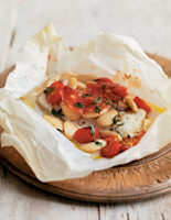 Baked Cod Parcels with Beans and Chorizo