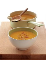 Carrot & chickpea soup