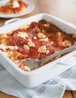 Red Pepper and Goats' Cheese Lasagne